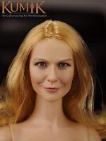 "KUMIK 1/6 Scale Female Head Sculpt KM16-10 Head Carved F 12"" Action Figure Body"