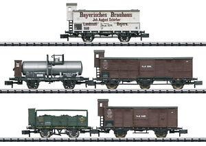 """Trix Minitrix 15284 Güterwagen-Set """"Pfalz"""" der K.Bay.Sts.B.5-teilig #NEU in OVP#"""