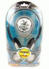 Coby CV321 3 in 1 Headphone & Earphone Combo LIghtweight Super Bass Digital