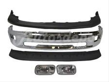 For 2009-2012 DODGE PICKUP RAM 1500 FRONT BUMPER BAR CHR UP LO FOG LIGHT SET 5P