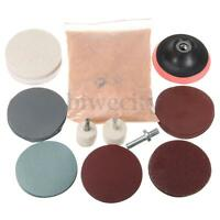 "32Pcs Glass Deep Scrach Remover + 8OZ Cerium Oxide + 3"" Wheel Felt Polishing Kit"