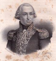 Portrait XIXe Pléville Le Pelley Corsaire Marine Marseille Granville 1835