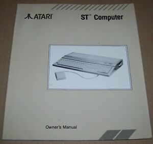 Atari 520 1040 ST STF STFM STE Computer User Owner's Manual Book C026406-002