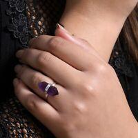 Valentines Gift Amethyst Gemstone Ring 925 Sterling Silver Handmade Jewelry