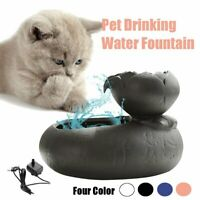 Automatic Electric Pet Water Fountain Dog/Cat Drinking Bowl Waterfall USB Cable