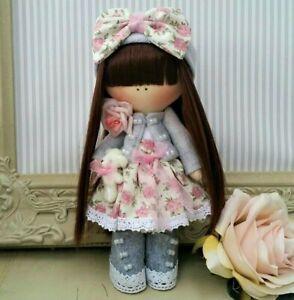 Rag doll handmade Cloth doll Tilda doll Rag Ooak doll MELODY 8 inch tall
