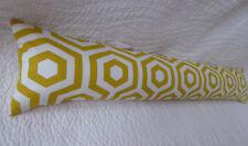 Draught Excluder Handmade Cotton Fabric Geometric Retro Print Mustard Yellow