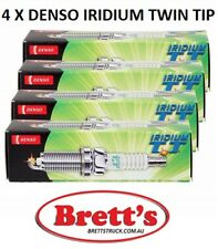 4 x Denso HP Iridium Twin Tip TT Spark Plug FOR SUBARU FORESTER SF (IK20TT)