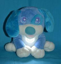 "Flashlight Friends Dog Night Light Plush Bedtime Blue Puppy 9"""