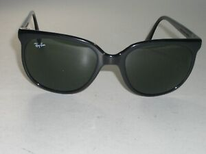 1980's BAUSCH & LOMB RAY-BAN MADE IN FRANCE SHINY-BLACK G15 CATS 1000 SUNGLASSES