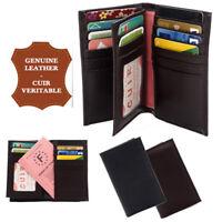 Porte cartes portefeuilles homme / femme CUIR VERITABLE 17 Cartes