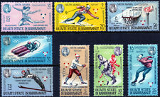 Aden South Arabia 1967 Quaiti Hadhramaut Winter Olympic set of 8 mint stamps LMM