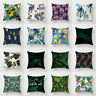 Tropical Green Leaf Home Decorative Throw Square Pillow Case Cover Cushion