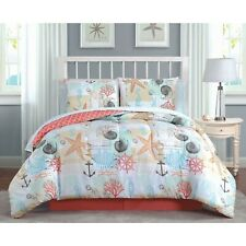 Heritage Bay Belize 6-Piece Comforter Set, Twin, Coral - Free Shipping