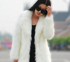 Oversize Womens Fashion Long Faux Fur Full-Length Coat Outwear Jacket New Parka