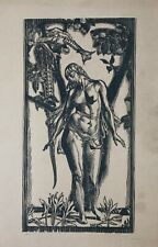 Marcel ROUX (1878-1922) Tentation d'Ève bois gravé Max Klinger Alfred Kubin Lyon