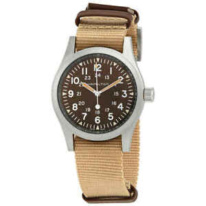 Hamilton Khaki Field Hand Wind Brown Dial Men's Watch H69439901