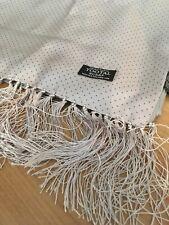 Tootal Silver Grey Black Pola Dot Spotty Scarf 100% Silk Mod Retro