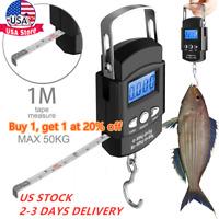 Digital Fishing Scale Portable Hanging Hook Electronic Weighing Fish Luggage-Bag