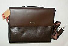 Mioy Modern Men's Leather Business Bag - Dark Brown - NEW
