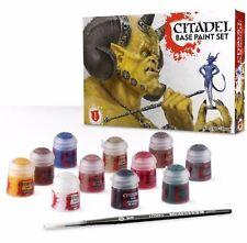 Warhammer CITADEL BASE PAINT SET - 11 x 12ml Paints & 1 Brush
