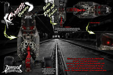 LOSI RACING RC10 B6 B6D 'OUTLAW' CHASSIS WRAP HOP UP DECALS FITS OEM SKID PARTS