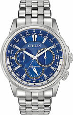 NEW CITIZEN BU2021-51L Eco Drive Calendrier Multifunction World Blue Watch