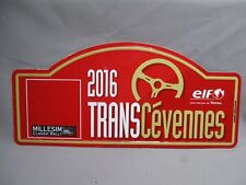AI180 PLAQUE RALLYE TRANS CEVENNES 2016 MILLESIM CLASSIC RALLY ELF TOTAL