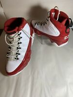 Nike Air Jordan 9 IX Retro Gym Red White Basketball Shoes 302370 160 Size 9.5
