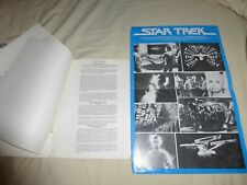 Star Trek The Motion Picture French presskit pamphlet sheets and folder