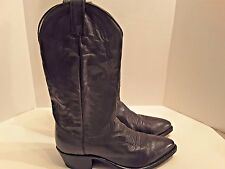 Men's DAN POST Dark Gray Leather Western Style Cowboy Boots Size 8.5 D
