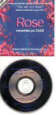 ZAZIE RARE CD SINGLE ROSE