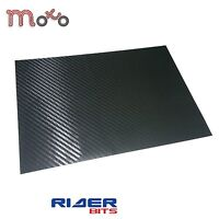 A4 CUTOUT SHEET CARBON BLACK  HEAT SHRINK WRAP STICK ON STICKY BACK MOTORBIKE
