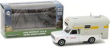 GREENLIGHT 1968 CHEVROLET C10 & SILVER STREAK CAMPER 1/64 DIECAST WHITE 29865