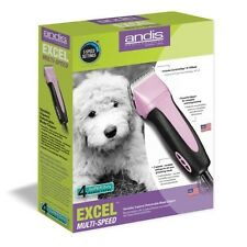 New Andis SMC Pro Clip Excel 5-Speed Animal Pet Dog Clipper 65410 Pink