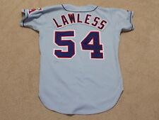 Tom Lawless Game Worn Signed Jersey 1993 California Angels