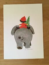 22 Vintage Lis Paludan Christmas Cards by CASPARI Danish Folk Art Denmark 1972