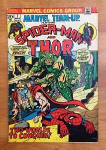 Marvel Team-Up #7 (1972) FN-/FN, Spider-Man, Thor