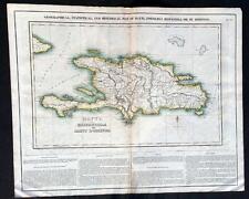 Map of Haiti Santa Domingo Carey North American Atlas 1822 FINE