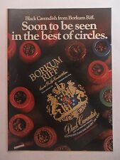 1977 Print Ad BORKUM RIFF Pipe Tobacco ~ Soon to be Seen in the Best of Circles