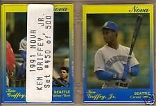 "KEN GRIFFEY JR. 1991 Star Co. ""Nova"" SET#/500 - 9 cards"