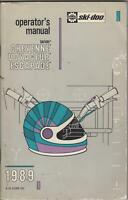 1989 SKI-DOO SNOWMOBILE CHEYENNE, VOYAGEUR, ESCAPADE OPERATORS MANUAL