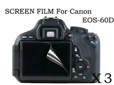 3 HD Ultra Clear Screen Protector Film Cover skin for Canon EOS 60D Digital SLR