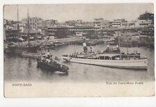 Port Said Vue de l'Ancienne Poste Vintage Postcard 243a