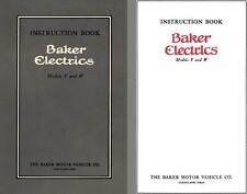 Baker 1912 - Instruction Book Baker Electrics Models V and W