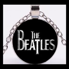 NEW - THE BEATLES MUSIC FAN GLASS OPTIC PENDANT NECKLACE