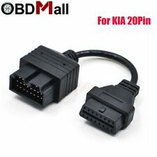 For KIA 20 PIN To 16 PIN Adapter OBD2 Female Connector Diagnostic Tool Code R…