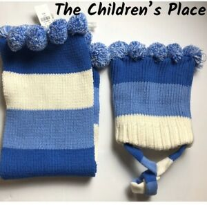 The Children's Place Cute Pom-Pom Scarf/Beanie Hat Set. NWT. One Size