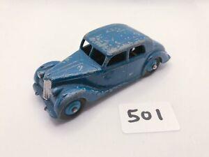 VERY SCARCE DINKY TOYS # 40A RILEY SALOON DARK BLUE RIDGED HUBS DIECAST CAR