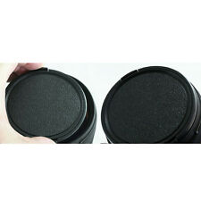 Universal 49mm Snap on Camera Front Lens Cap Plastic Black Durabl fr DSLR Filter